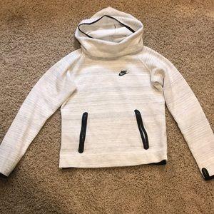 Nike hoodie with scrunch around neck